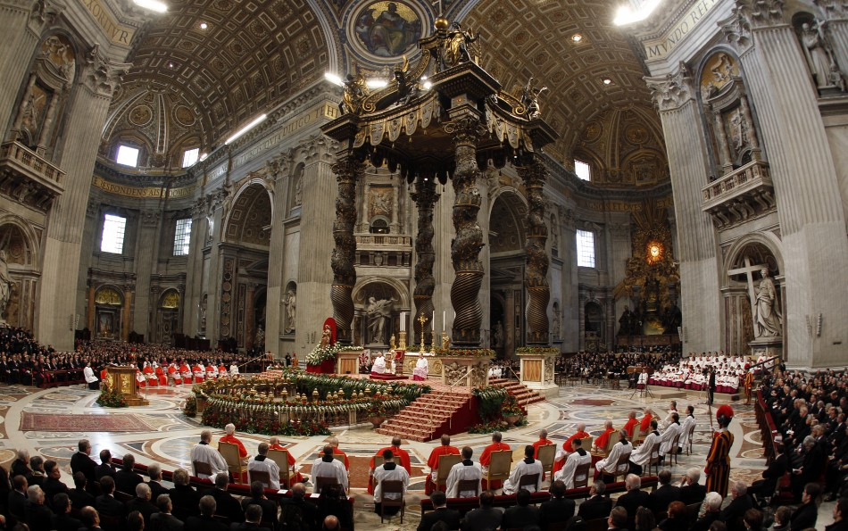 Incoming new Cardinals are seen during a consistory ceremony in Saint Peter039s Basilica at the Vatican