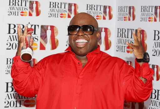 Cee-Lo Green after winning the International Male Brit Award 2011 at the O2 in London