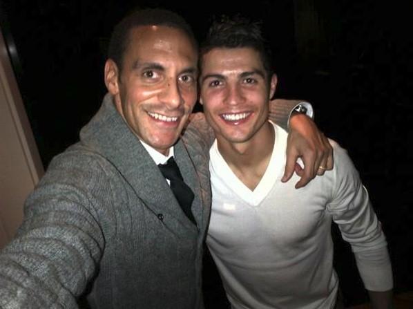 Rio Ferdinand and Cristiano Ronaldo
