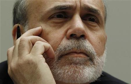 """U.S. Federal Reserve Chairman Ben Bernanke listens to questions as he testifies before a House Financial Services hearing on the """"Monetary Policy and the State of the Economy"""" on Capitol Hill in Washington"""