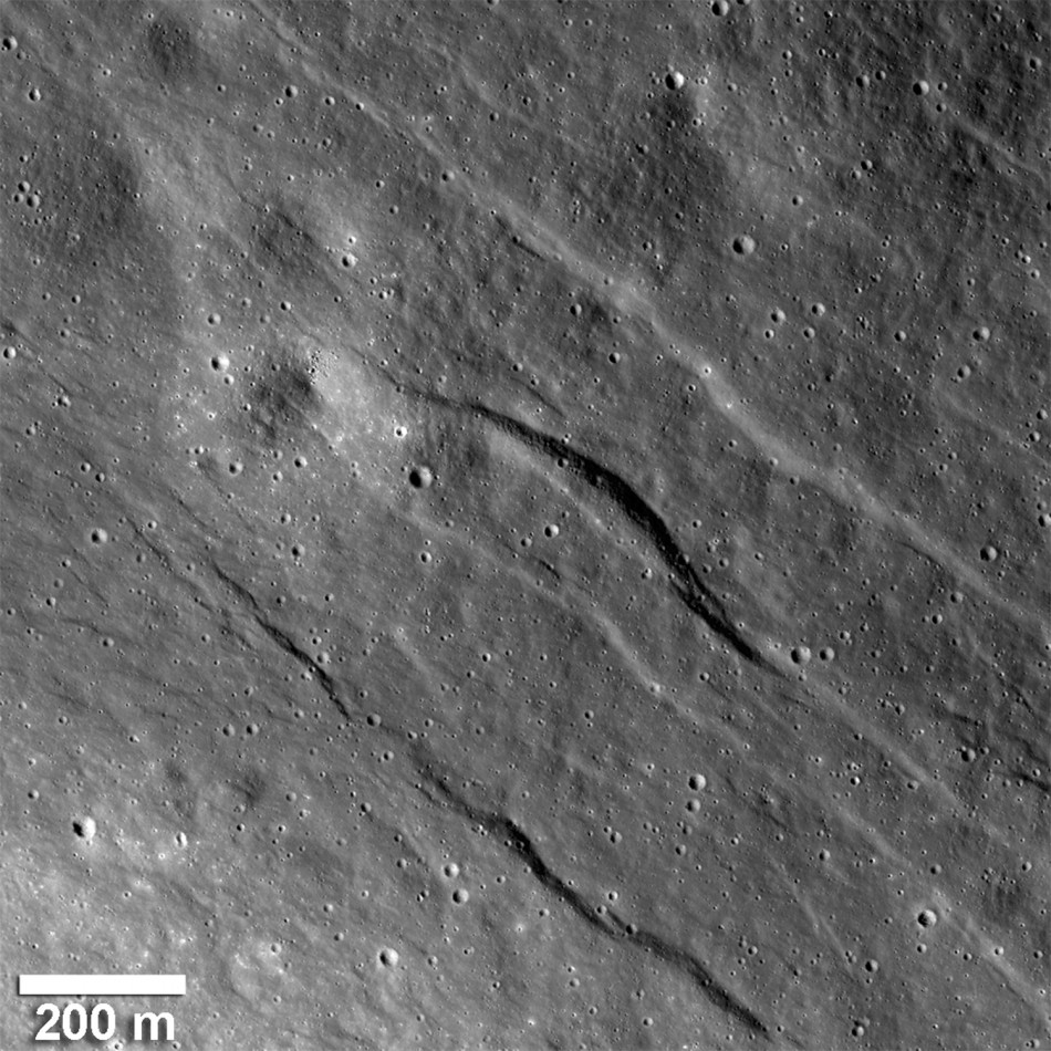 NASA Discovers Moon Crust Being Streched