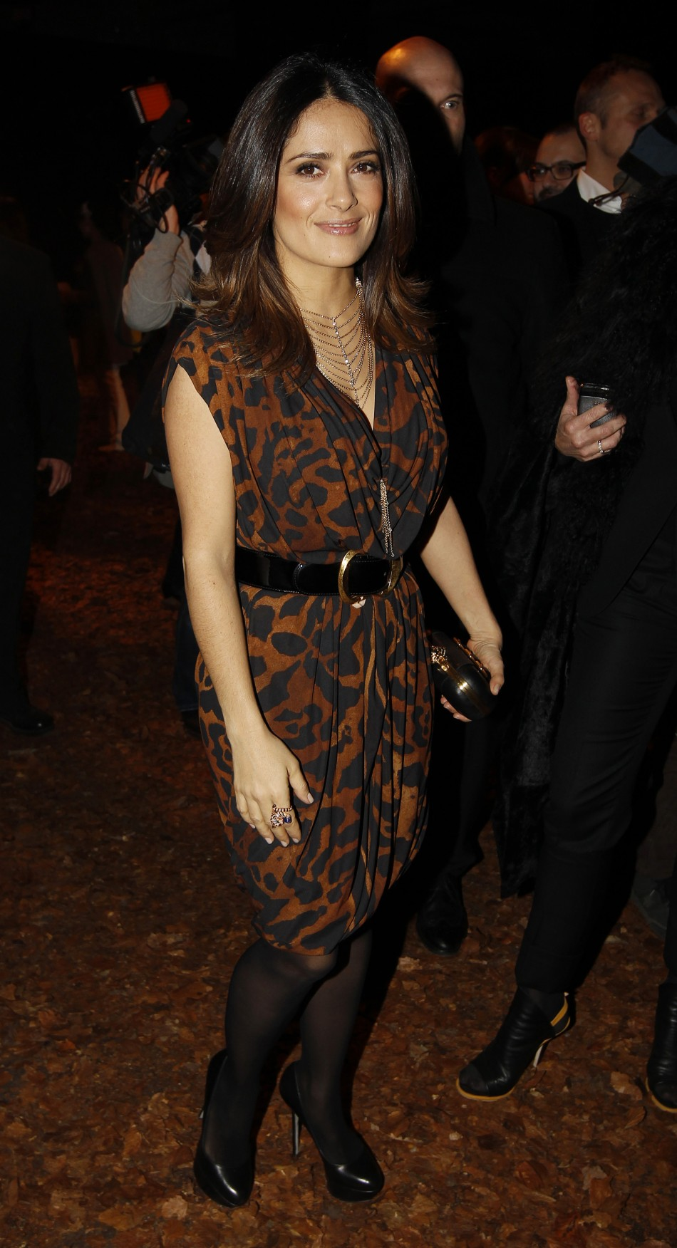 Lfw Mcqueen Unveils New Collection Salma Hayek Stuns In