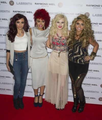 Little Mix arrives for the Pre-Brit Awards Dinner at a London venue, Thursday, Jan. 26, 2012