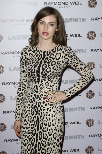 Tali Lennox arrives for the Pre-Brit Awards Dinner at a London venue, Thursday, Jan. 26, 2012