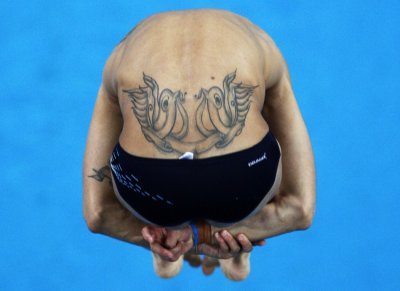 Juan Guillermo Uran of Colombia competes in the men039s 10m platform diving final at the Beijing 2008 Olympic Games