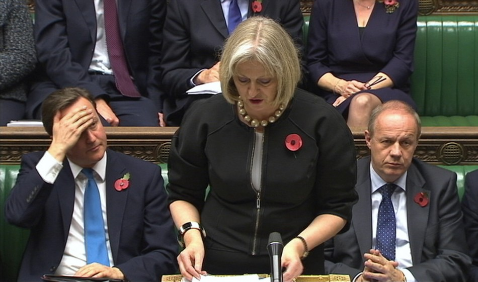 Britain's Home Secretary Theresa May Speaks In Parliament