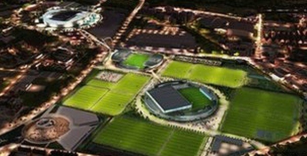 The proposed complex would house a 7,000-seat youth stadium and 17 pitches (MCFC)