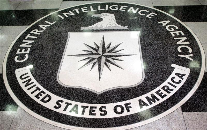 The logo of the U.S. Central Intelligence Agency is shown in the lobby of the CIA headquarters in La..