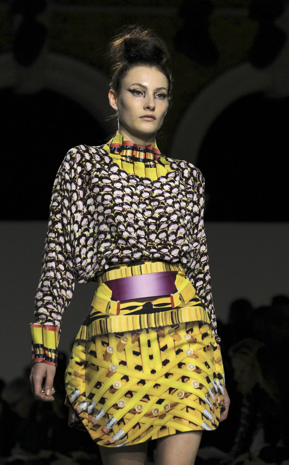 Eclectic Designs and Experimental Patterns Mark Mary Katrantzou LFW Collection