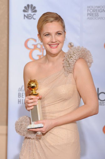 Drew Barrymore in the press at the 67th Annual Golden Globe Awards
