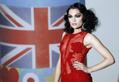 Jessie J arrives for the BRIT Music Awards at the O2 Arena in London