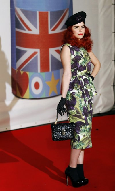 Paloma Faith arrives for the BRIT Music Awards at the O2 Arena in London