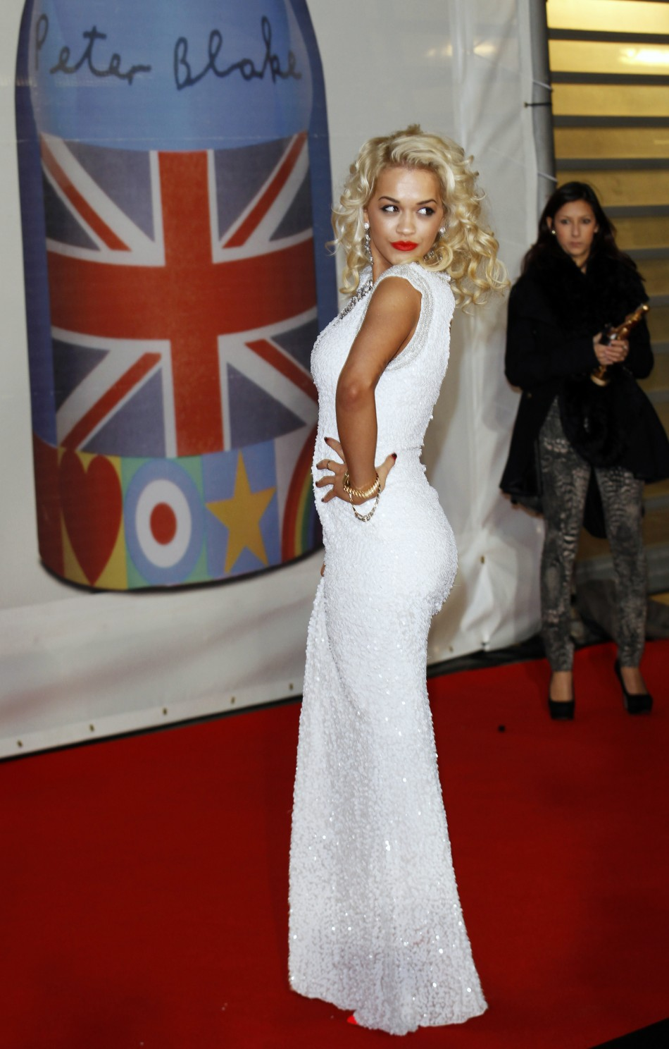 Rita Ora arrives for the BRIT Music Awards at the O2 Arena in London
