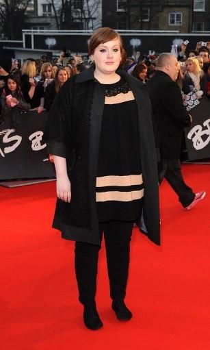 Adele Adkins arrives for the BRIT Awards 2008