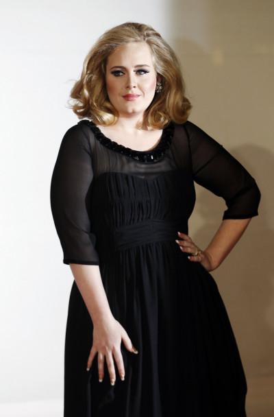 Multiple Grammy Award winner Adele arrives for the BRIT Music Awards at the O2 Arena in London