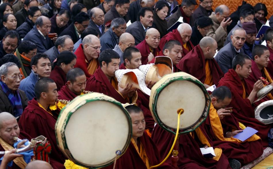 Monks Dharamsala Tibetan New Year