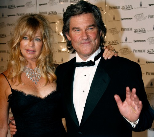 """Kurt Russell and Goldie Hawn arrive for a party after the gala screening of US director Quentin Tarantino's film """"Death Proof"""" at Cannes"""