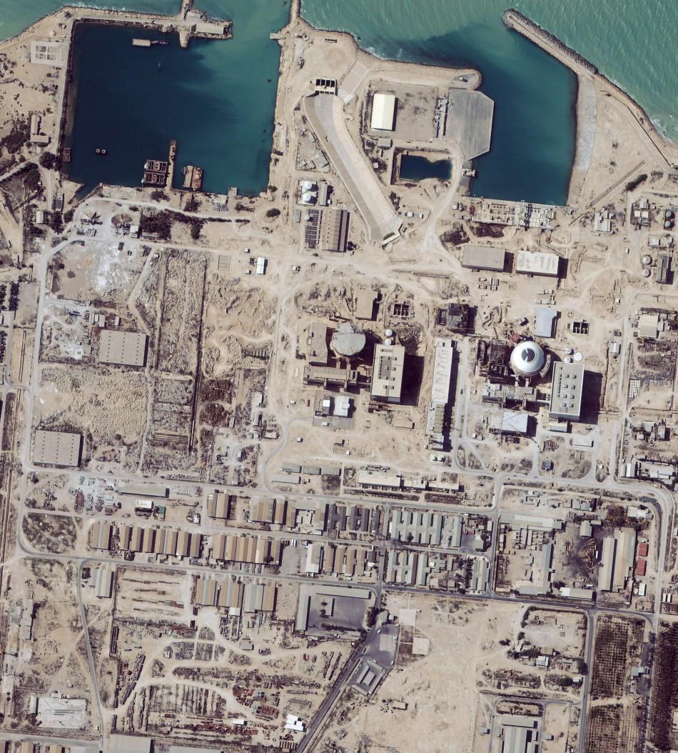 Satellite image shows the nuclear facility at Bushehr, Iran,