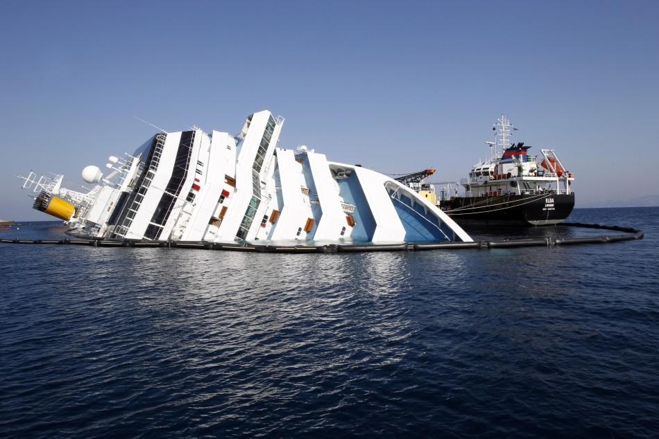 Costa Concordia wreckage