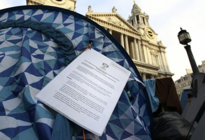 Eviction notices served on the Occupy camp