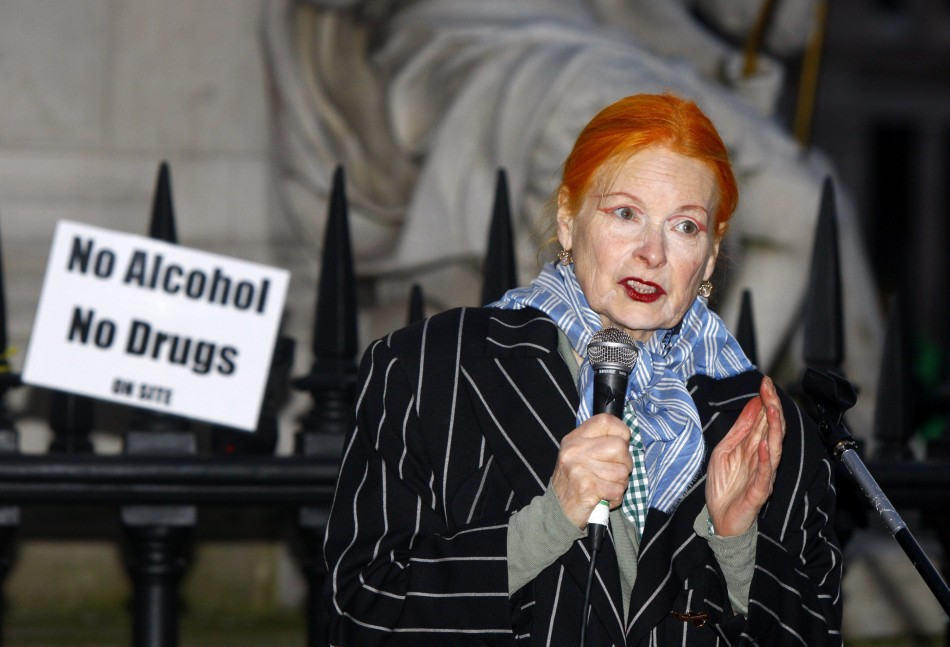 Vivienne Westwood talks to the camp