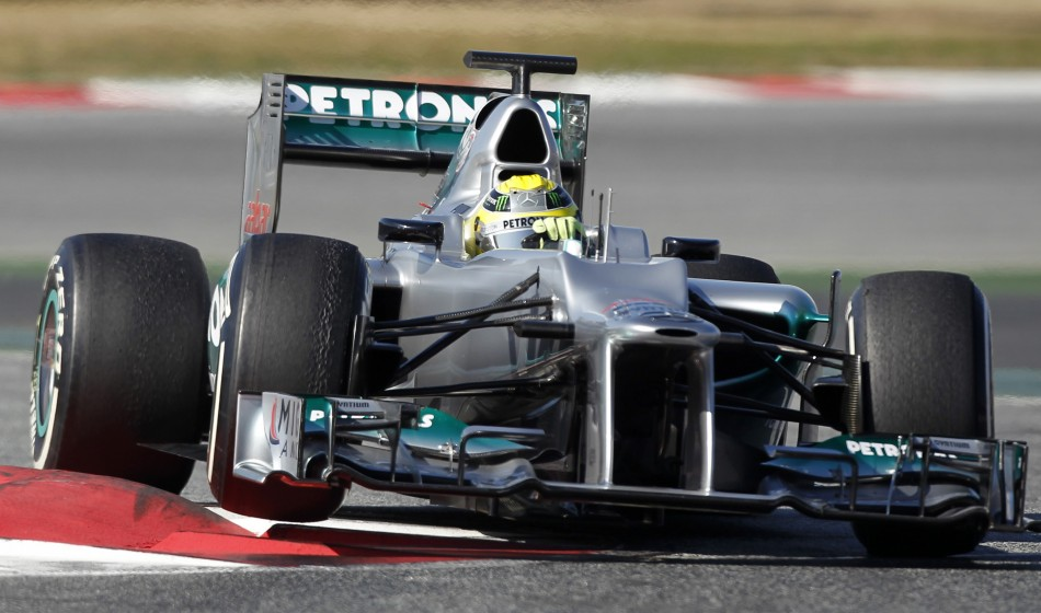 Nico Rosberg of Mercedes tops in third practice session in Malaysia Grand Prix