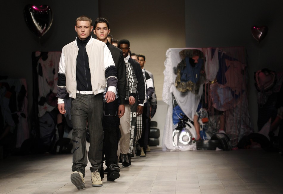 Models present creations at the Christopher Shannon 2012 AutumnWinter collection show