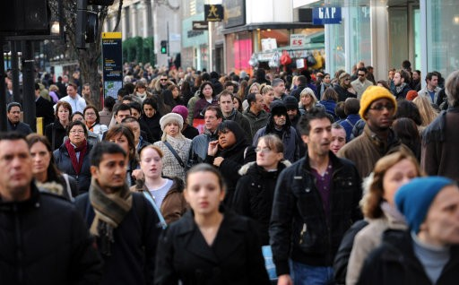 People on Oxford Street London