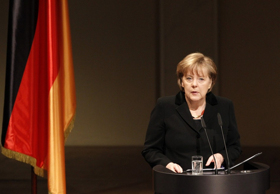 German Chancellor Merkel gives speech during memorial ceremony for victims of neo-Nazi violence in Berlin