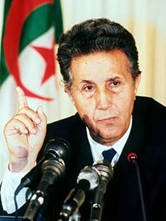 Former Algerian president Ahmed Ben Bella