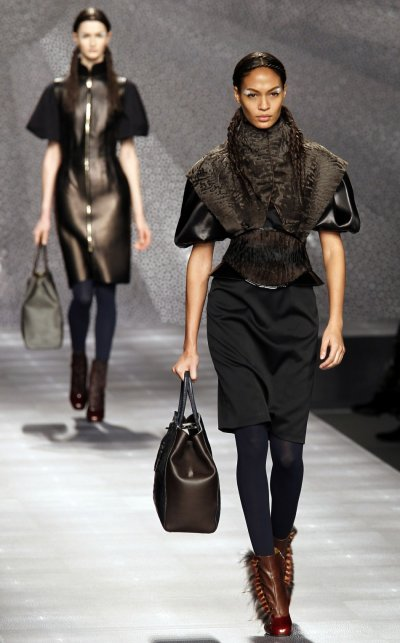 Fendi Furry Tribesmen Meets High Street Looks at 2012 Milan Fashion Week