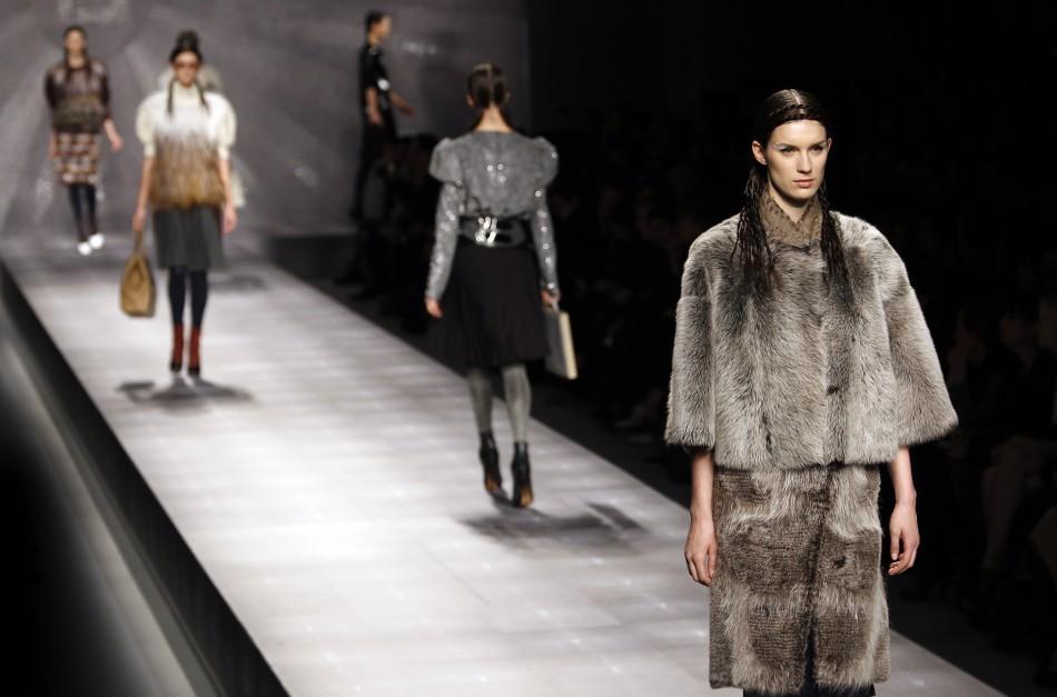 Fendi Furry Tribesmen Meets High Street Looks at 2012 Milan Fashion Week