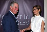 The Prince of Wales meets Cheryl Cole (right) at the Prince's Trust's Invest in Futures gala dinner held at The Savoy, London.