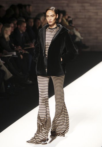 A model wears a creation part of the Max Mara Women039s Fall-Winter 2012-13 fashion collection, during the fashion week in Milan, Italy, Thursday, Feb. 23, 2012