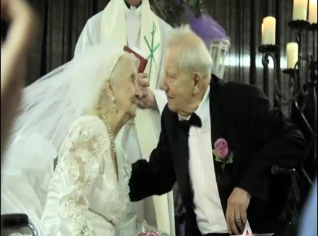 Dana Jackson marries 87-year-old Bill Stauss on 100th birthday