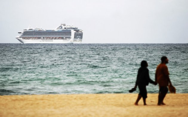 Cruise ship off coast of Florida, final port of call for luxury voyage on Six Star Cruises