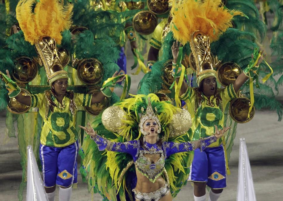 Carnival parade in Rio de Janeiro's Sambadrome