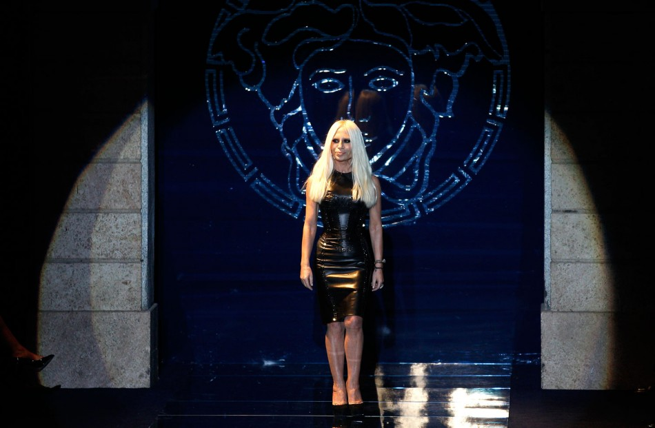 From Crucifixes to Fishnet Boots Versaces Gothic Collection at Milan Fashion Week