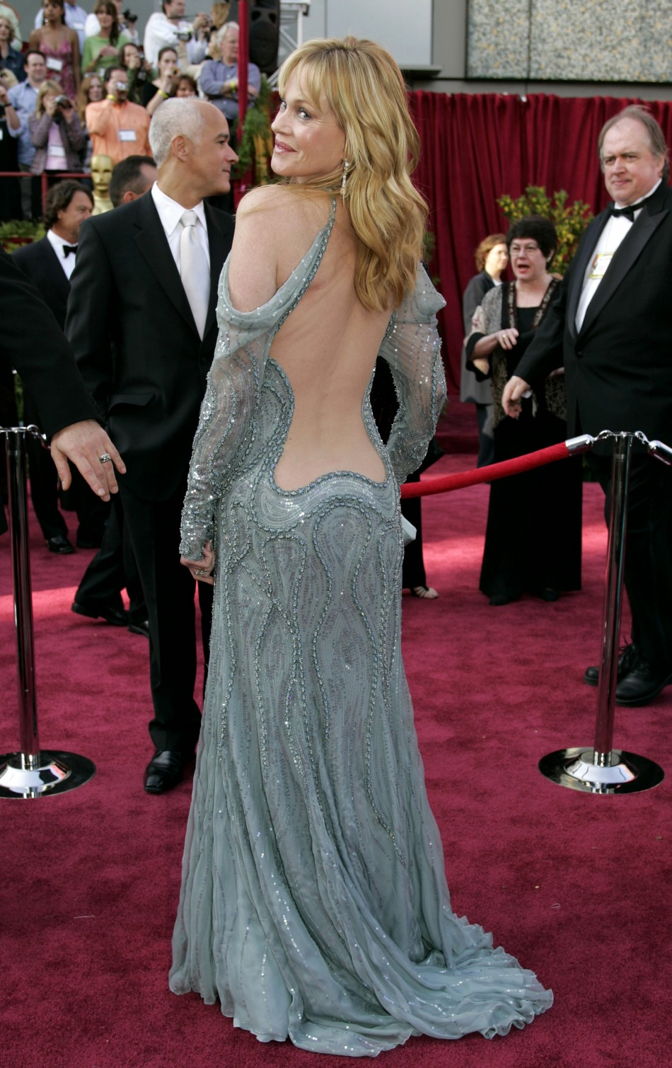 U.S. actress Melanie Griffith arrives at the 77th annual Academy Awards.