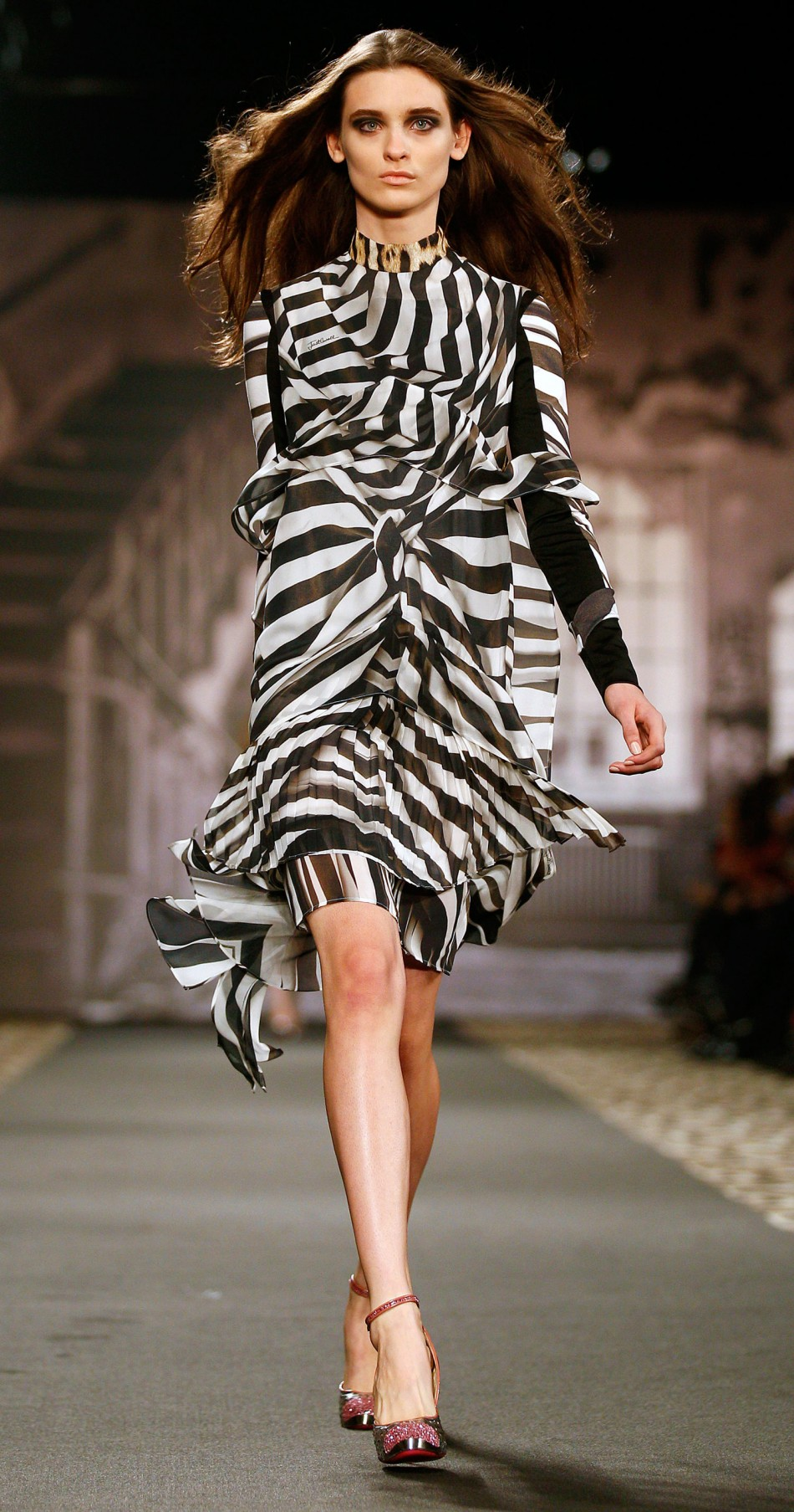 Milan Fashion Week Just Cavalli Channels Its Wild Side With Animal Prints