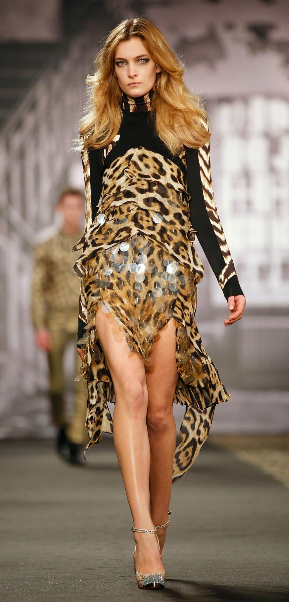 Milan Fashion Week Just Cavalli Channels Its Wild Side