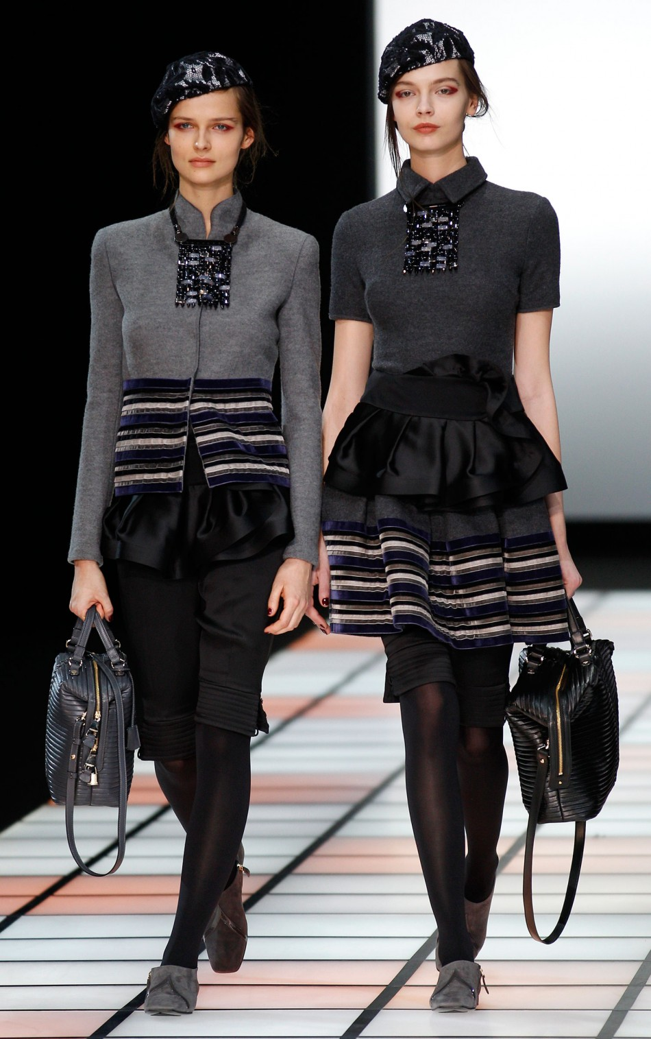 Emporio Armani's 'Little Winter Follies' at 2012 Milan Fashion Week