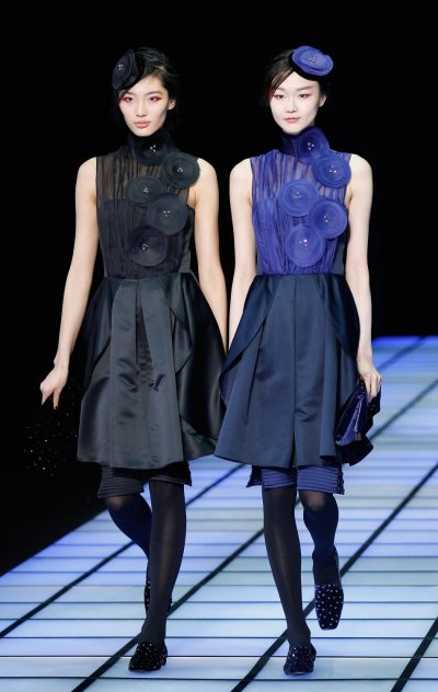 Emporio Armanis Little Winter Follies at 2012 Milan Fashion Week