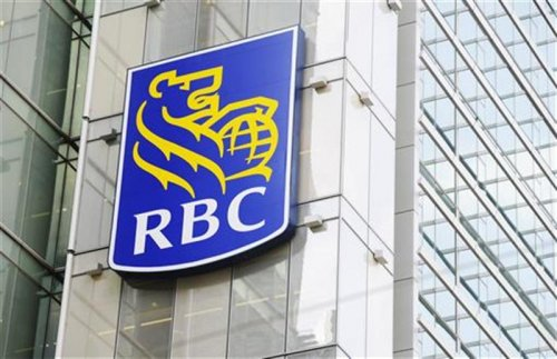 A Royal Bank of Canada (RBC) sign is seen in downtown Toronto