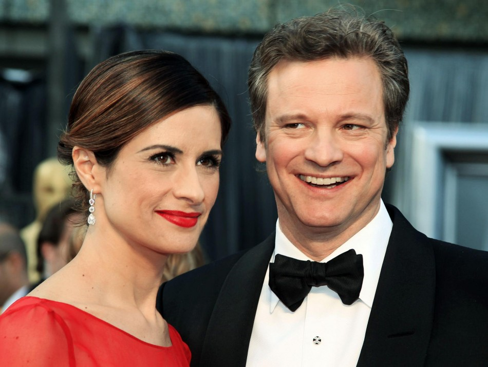 Actor Colin Firth and his wife Livia Giuggioli arrive at the 84th Academy Awards in Hollywood.