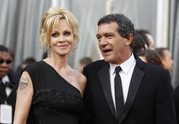 Actress Griffith and her husband, actor Banderas, arrive at 84th Academy Awards in Hollywood.