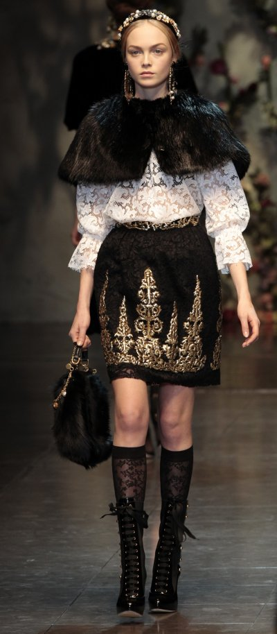 Dolce  Gabbanas quotBaroque Romanticismquot at 2012 Milan Fashion Week