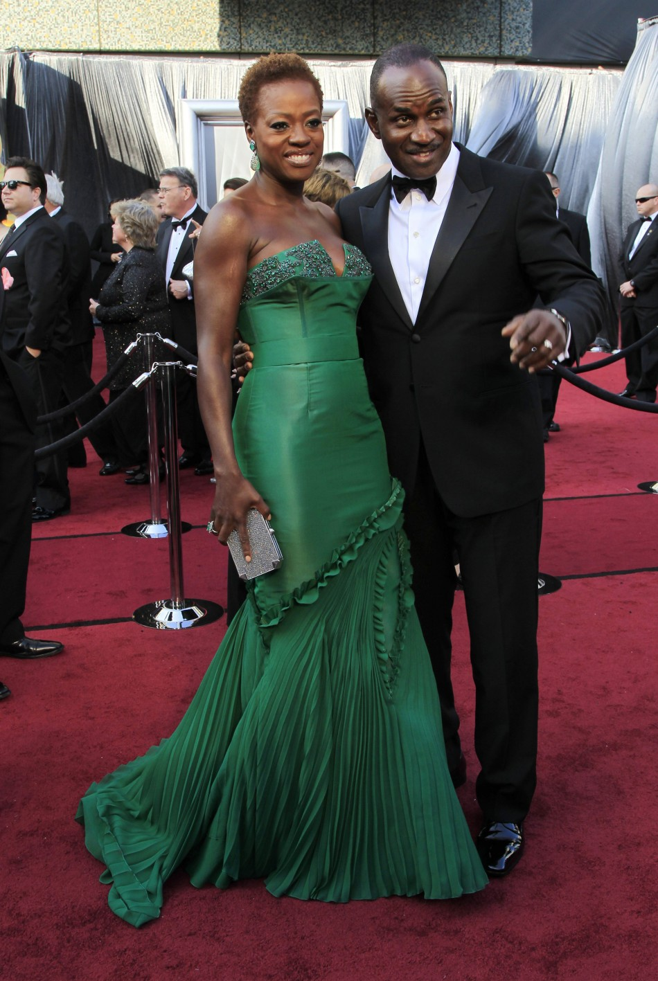 "Davis, best actress nominee for her role in ""The Help"", and her husband arrive at 84th Academy Awards in Hollywood"