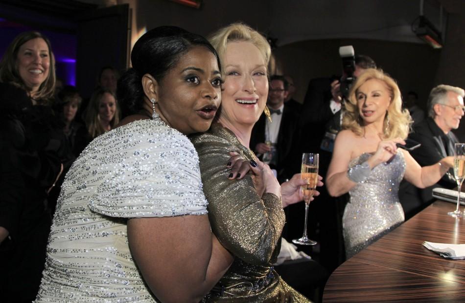 Octavia Spencer (L) and Meryl Streep