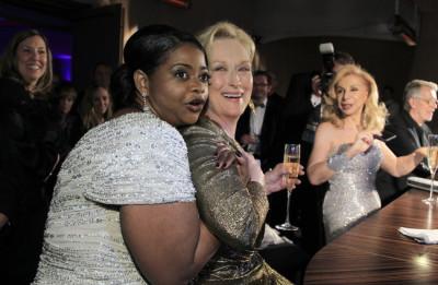 Octavia Spencer L and Meryl Streep